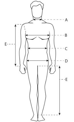 Таблица замеров для мужчин
