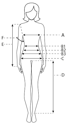Таблица замеров для женщин