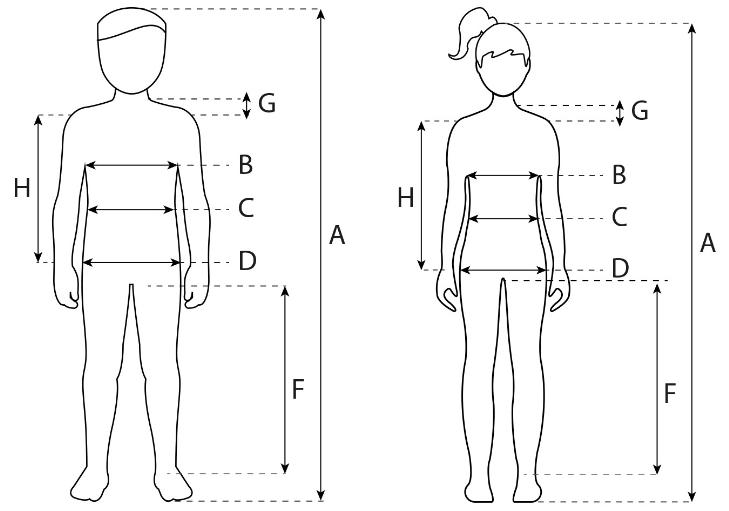 Таблица замеров детской одежды
